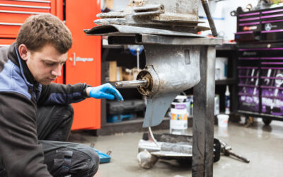 A Volvo SX-A Drive Prop Shaft Seal Replacement